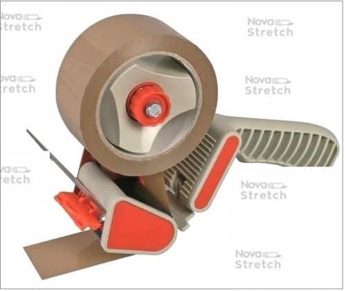 Диспенсер для упаковки клейкой лентой шириной до 50 мм