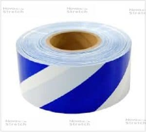 signal tape blue and white